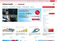 Website von Bank Austria
