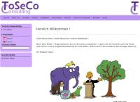 Website von Toseco Consulting